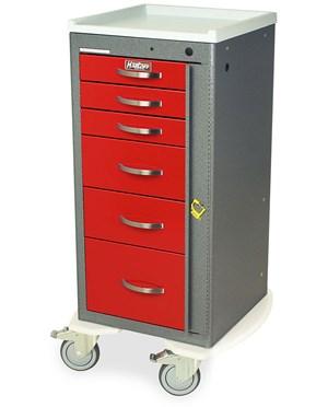 Mini Line Aluminum Six Drawer Emergency Cart HARAL3256B-