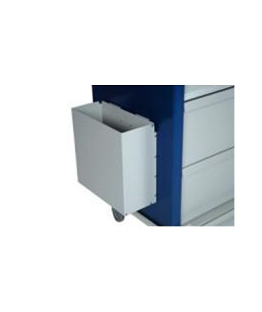 Harloff Aluminum Waste Container with Mounting Bracket, without cover