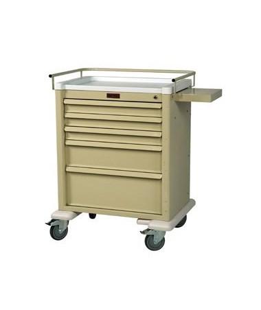 Harloff Universal Line Keylocking 5 Drawer Anesthesia Cart, Standard Package
