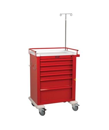 Universal Aluminum Tall Six Drawer Crash Cart HARAL809B6-