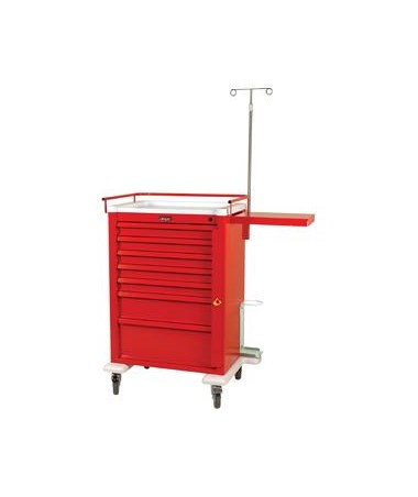 Harloff Universal Aluminum Super Seven Drawer Crash Cart Specialty Package