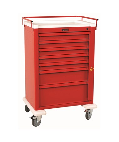 Universal Aluminum Super Seven Drawer Crash Cart HARAL810B7-