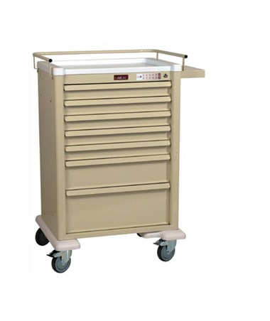 Harloff AL810EKC7 Universal Line 7 Drawer Cart with Electronic Lock