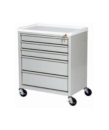 Harloff ETC Line Five Drawer Treatment Cart