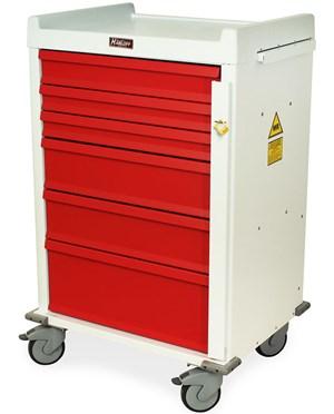 MR-Conditional Six Drawer Emergency Cart Breakaway Lock HARMR6B-
