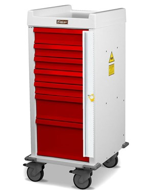 MR-Conditional Seven Drawer Emergency Cart HARMR7B-