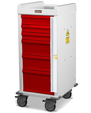 MR-Conditional Narrow Six Drawer Emergency Cart HARMRN6B-