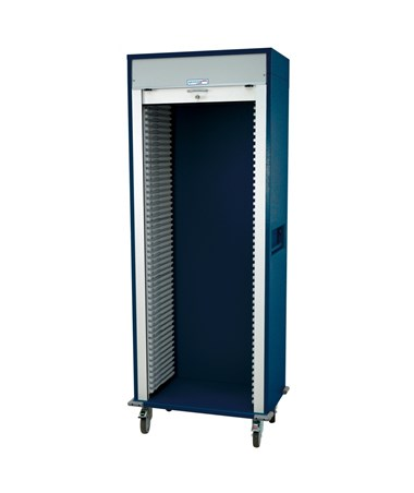 Single Column Medical Storage Cart with Tambour Door HARMS8128-