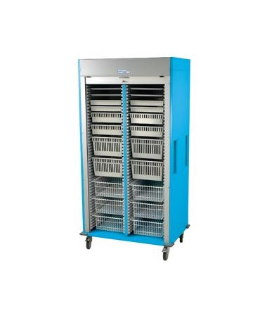 Harloff Preconfigured Double Column Ophthalmology Medical Storage Cart with Tambour Door