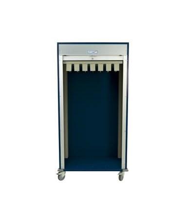 Harloff Double Wide Full Shell Catheter Procedure Cart with Tambour Door