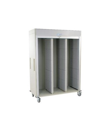 Harloff Triple Column Medical Storage Cart with Tambour Door