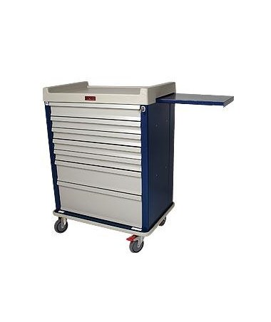 Standard Line Extra Wide Six Drawer Anesthesia Cart HARSL7KW-