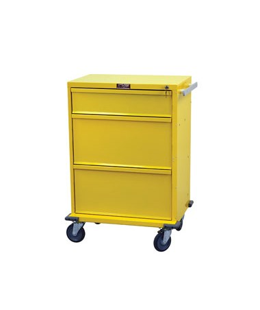 "Harloff V-Series Three Drawer Standard Package Isolation Cart 30"" Drawer Space"