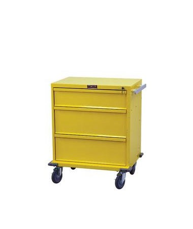 "Harloff V-Series Three Drawer Standard Package Isolation Cart 24"" Drawer Space"