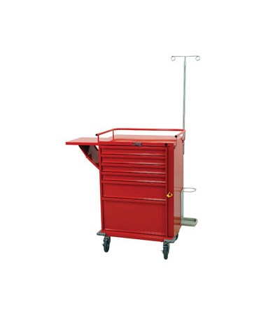 Harloff V-Series Six Drawer Crash Cart Emergency Package