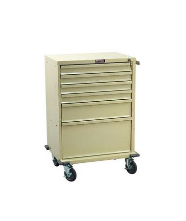 Harloff V-Series Six Drawer Treatment Cart