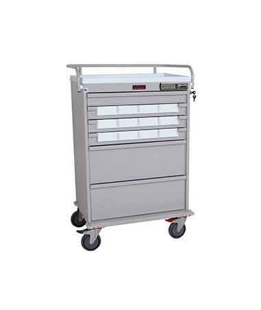 Value Line Single Column Med-Bin Cart HARVLT12BIN5-