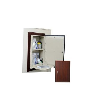 Wood Laminate Wall 40 Punch Card Medication Cabinet HARWL2780TRMPKG-