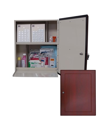 Wood Laminate Exterior Wall 40 Punch Card Medication Cabinet HARWL2790-
