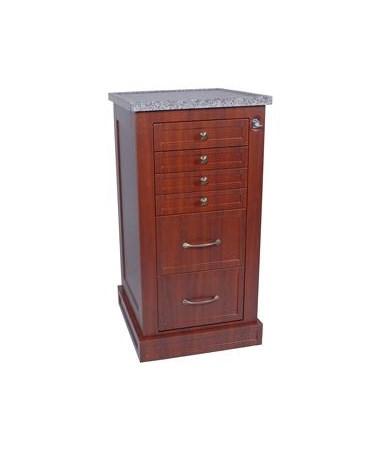 Wood Laminate Single Column Treatment Cart HARWL6K-