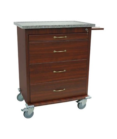 Wood Vinyl 540 Punch Card Medication Cart HARWV540PC-CM-