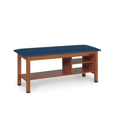 H-Brace Treatment Table with Shelf & Open Storage Cabinet HAUA9041