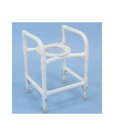 PVC Commode Safety Frame - Adjustable HMPCSFA-