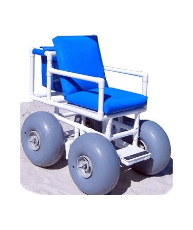WHEELEEZ-4: PVC Beach Wheelchair - Large wheels HMPROLLEEZ-4-