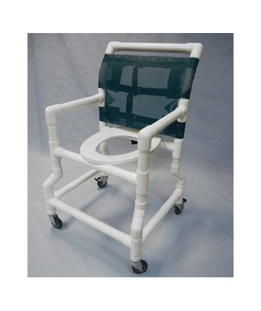 "PVC Shower Chair with Flarred Base For Stability - 18"" Width HMPSC6013D-FB"