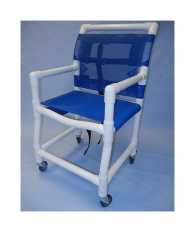 "PVC Shower Chair with Fabric Sling Seat - 18"" Width HMPSC6013D-SLING"