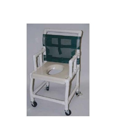 "PVC Shower Chair with Vaccum Formed Seat - 21"" Width HMPSC6013WVAC"