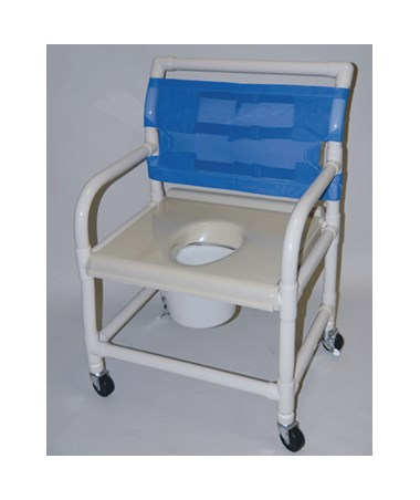 "24"" Wide PVC Shower Chair with Vaccum Formed Seat HMPSC6014XVAC"