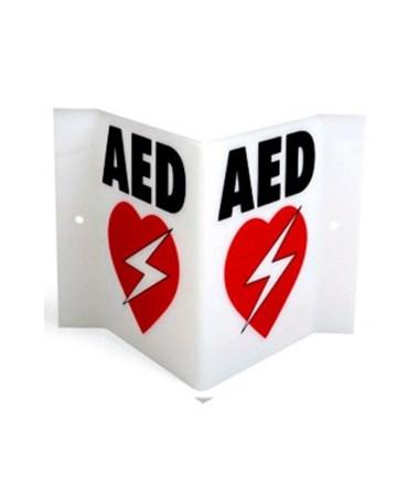 Triangular AED Wall Sign HTSPAD-ACC-05