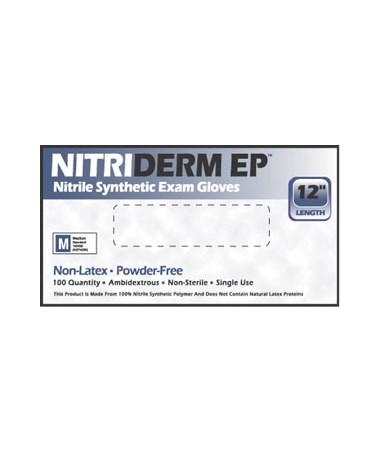 Nitriderm® Ep Nitrile Synthetic Exam Gloves IHC82100-