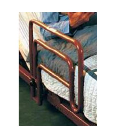 Invacare 6632 Assist Bed Rail - shown on bed
