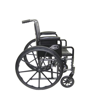 Karman Standard Detachable Arms Wheelchair Side View