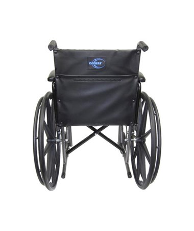 Karman Standard Detachable Arms Wheelchair Rear View