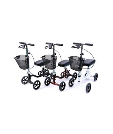 Karman Knee Walker in Black, Burgundy and White