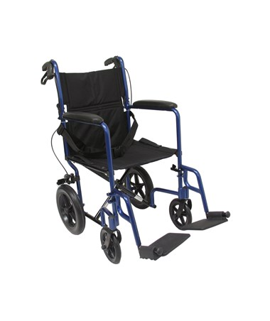 "12.5"" Rear Wheel Transport Wheelchair KARLT-1000HB-BL"