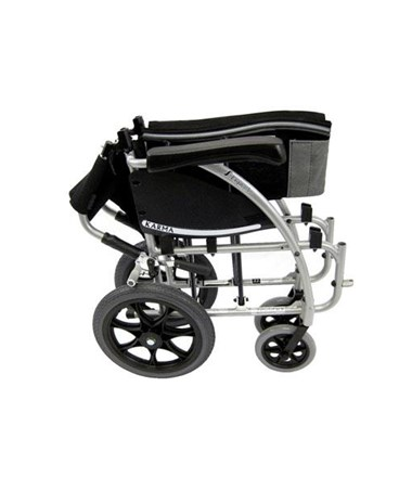 Karman S-Ergo Transport Wheelchair with Swing In & Away Footrests - Folded, Sideview
