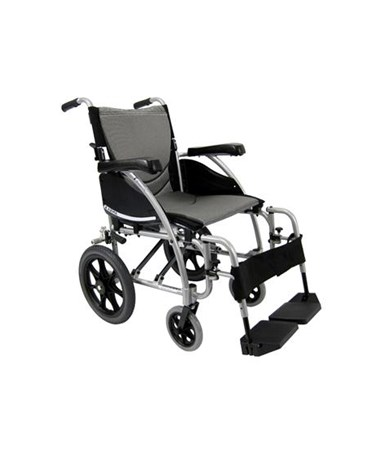S-Ergo Transport Wheelchair with Swing In & Away Footrests KARS-115F16SS-TP-