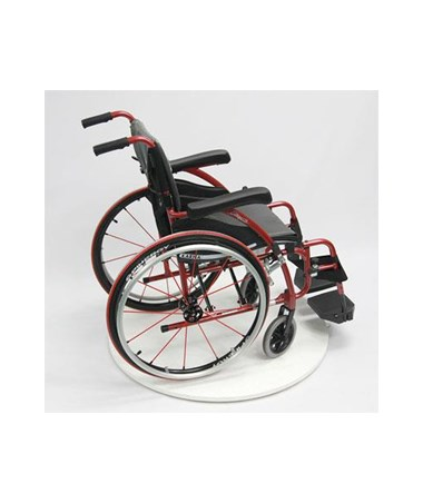 Karman S-Ergo Ultralightweight Wheelchair with Swing In & Away Footrests - Red