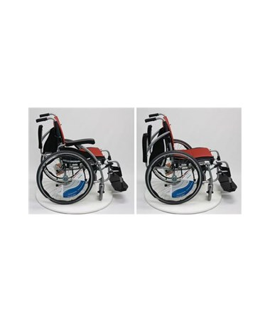 Karman S-Ergo Ultralightweight Wheelchair with Flip-Back Armrests and Swing Away Footrests - Armrests Flipped Back