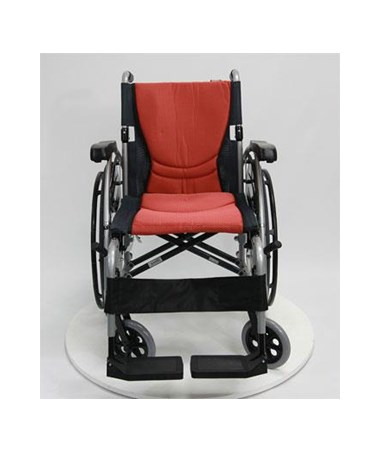 Karman S-Ergo Ultralightweight Wheelchair with Flip-Back Armrests and Swing Away Footrests - Orange