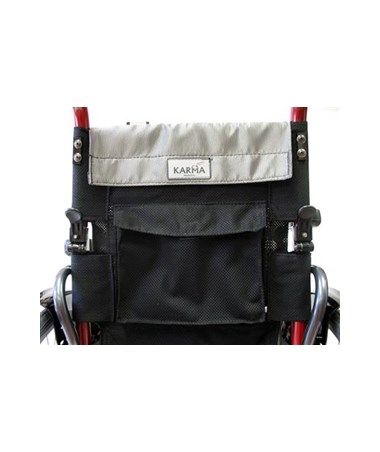 Karman S-Ergo Ultralightweight Wheelchair with Adjustable Seat Height - Pouch Behind Backrest