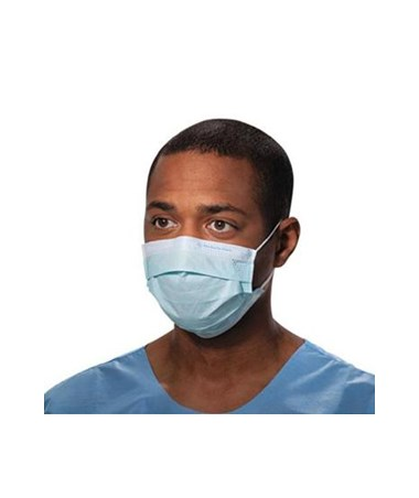 Kimberly Clark Pleated Procedure Mask with Earloops Blue