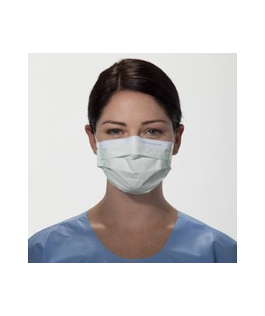 Kimberly Clark Pleated Procedure Mask with Earloops Green