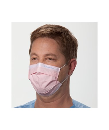 Kimberly Clark Pleated Procedure Mask with Earloops Pink