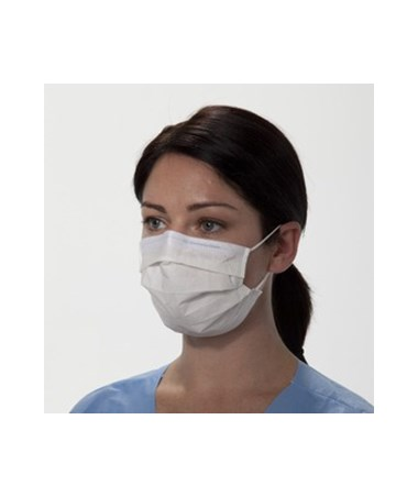 Kimberly Clark Pleated Procedure Mask with Earloops White