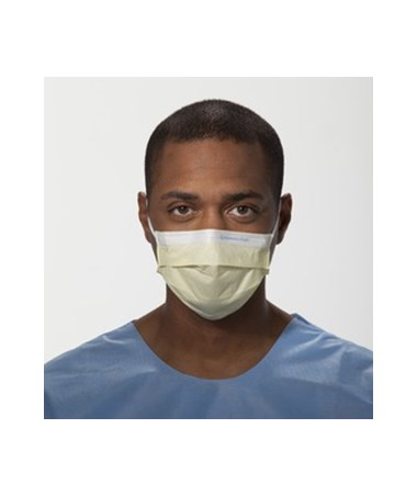 Kimberly Clark Pleated Procedure Mask with Earloops Yellow